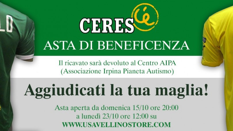 AL VIA L'ASTA DI BENEFICENZA DELL'AVELLINO TARGATA CERES