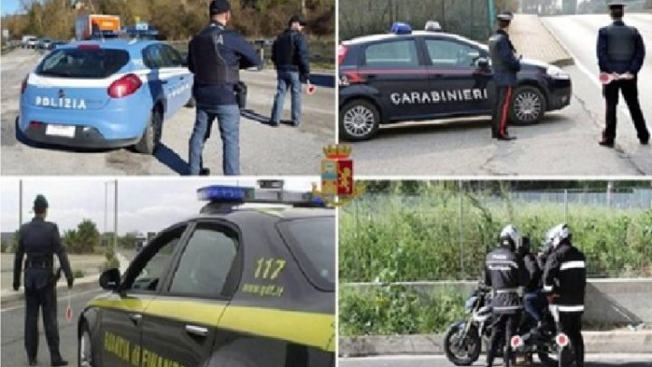ACTION DAY DELLE FORZE DELL'ORDINE: DENUNCE E SEQUESTRI AD AVELLINO