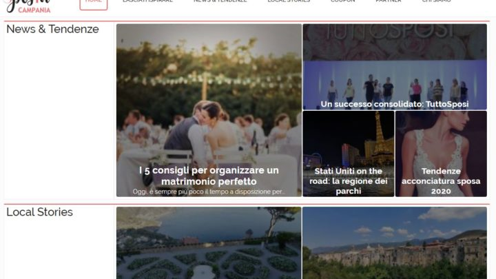 "SPOSINCAMPANIA.IT E' REALTA': ECCO LA RIVISTA ""SMART USER"" DEDICATA AL WEDDING"