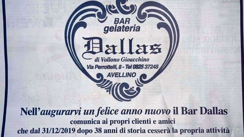 "ADDIO AL BAR ""DALLAS"".IN VIA PERROTTELLI FINISCE UN'EPOCA"